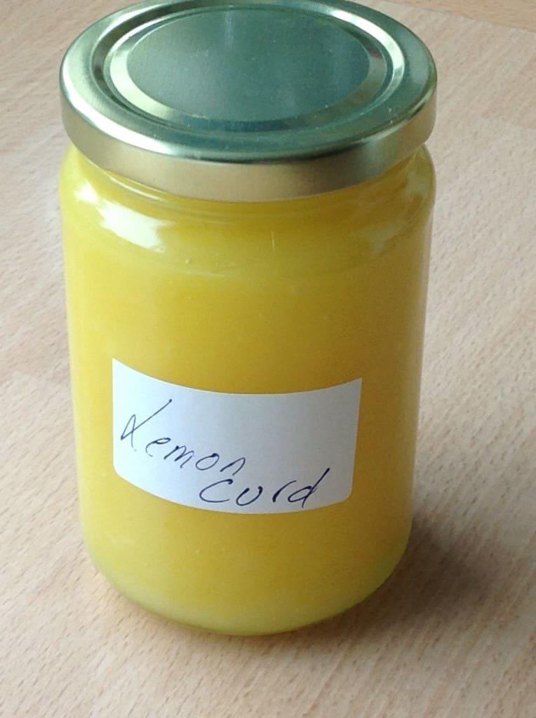 a jar of Lemon Curd