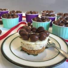 Mini Malteser Cheesecakes
