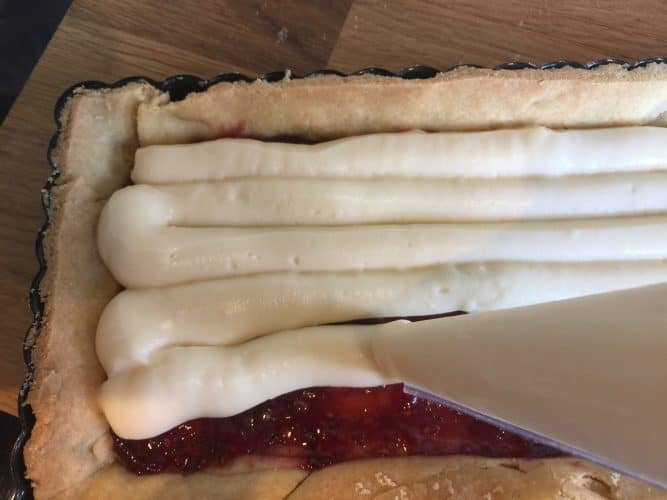 Raspberry and Blueberry custard tart