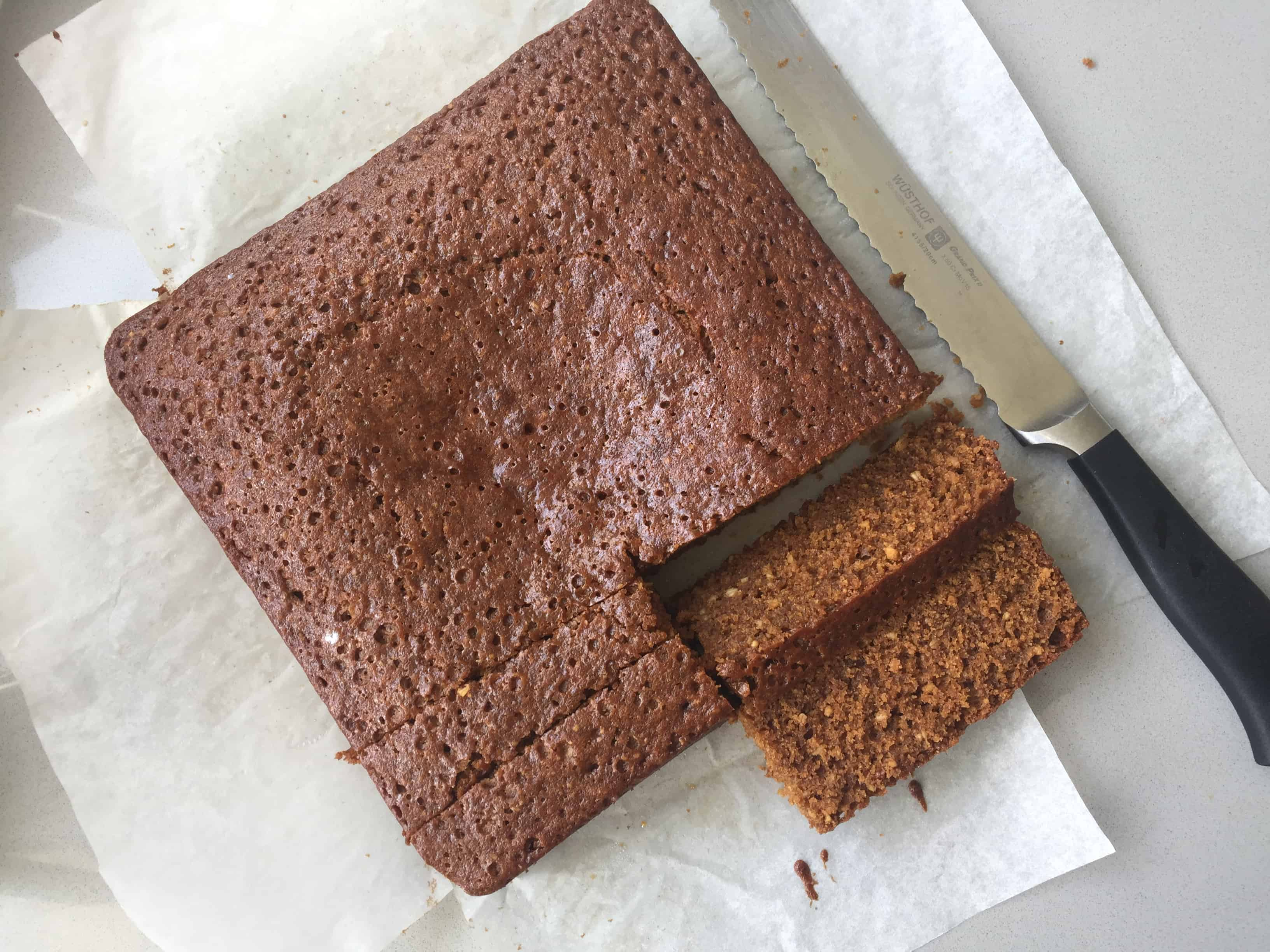 Yorkshire Parkin sliced