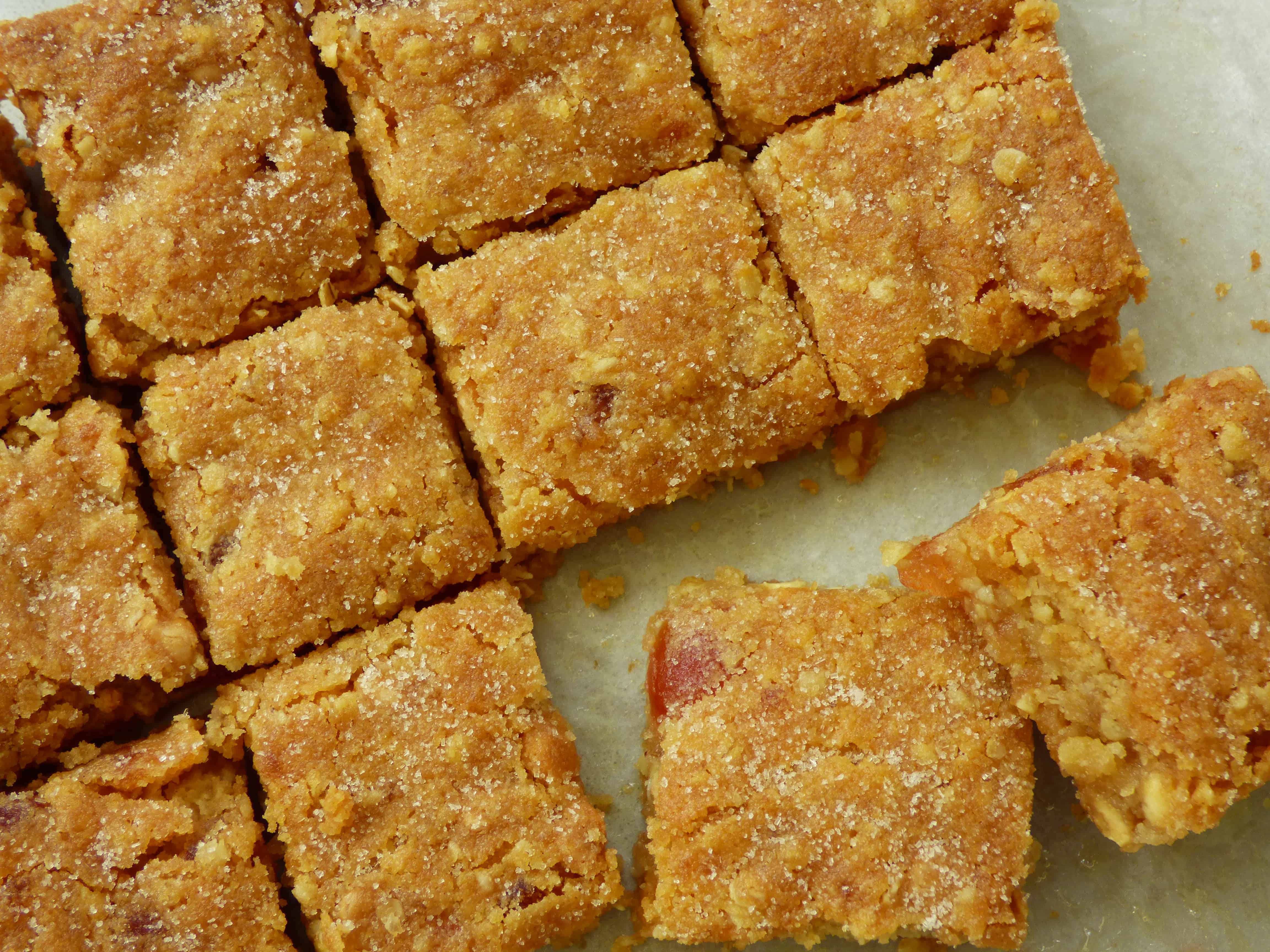 square slices of cookie bars.