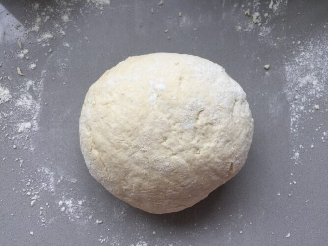Smooth Scone dough ball.