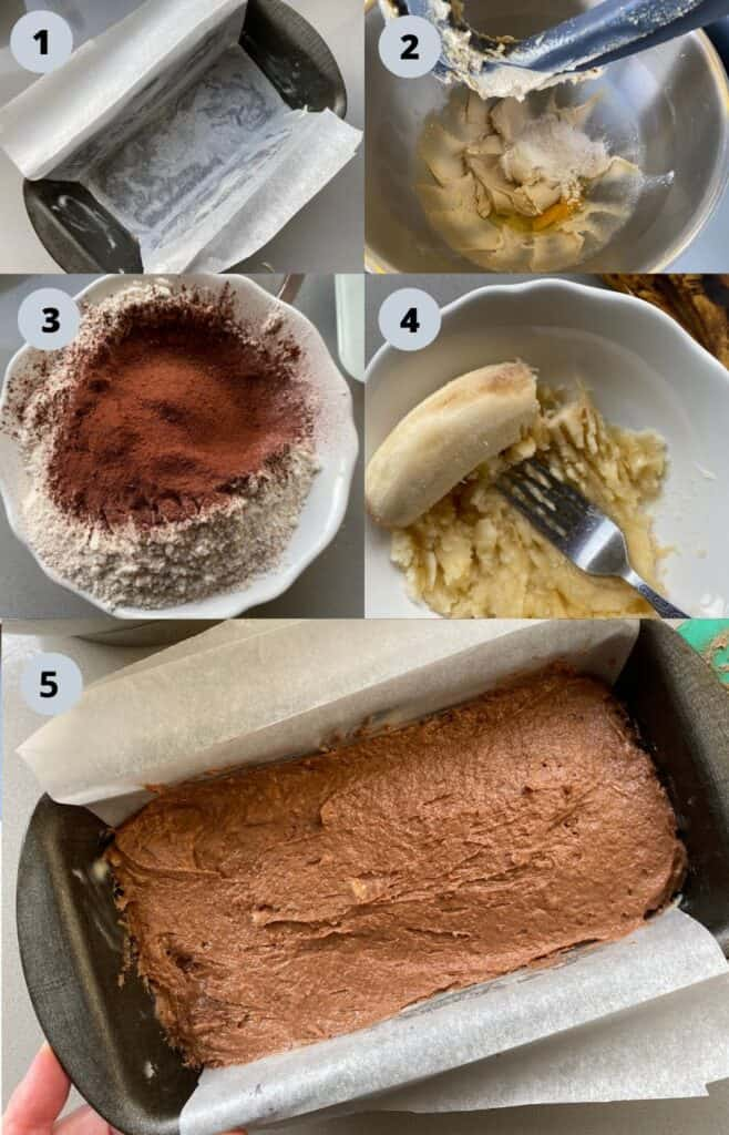 Step by Step Instructions for Banana and Chocolate Cake