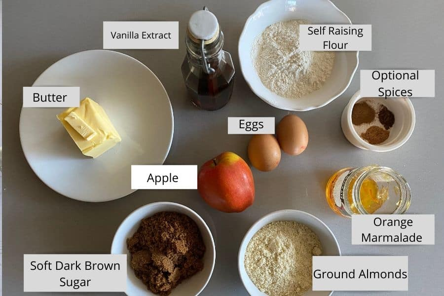 Ingredients of Apple Cake