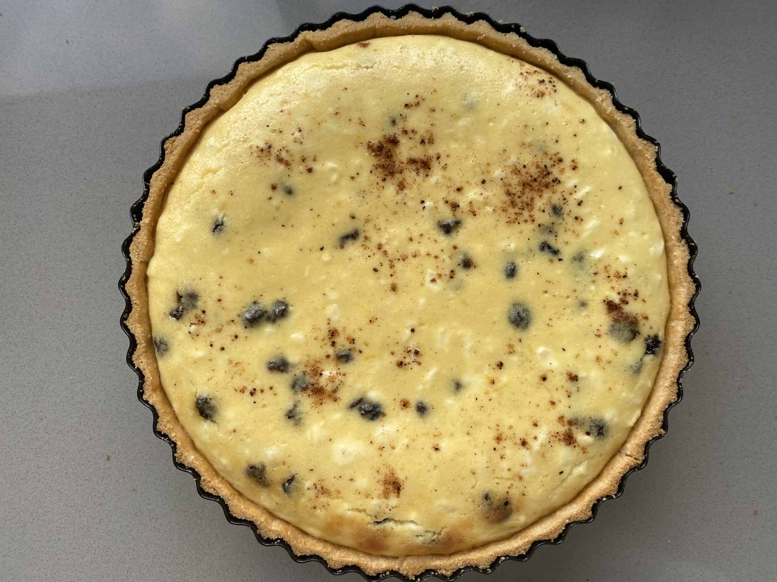 Baked Cottage Cheese Curd Tart