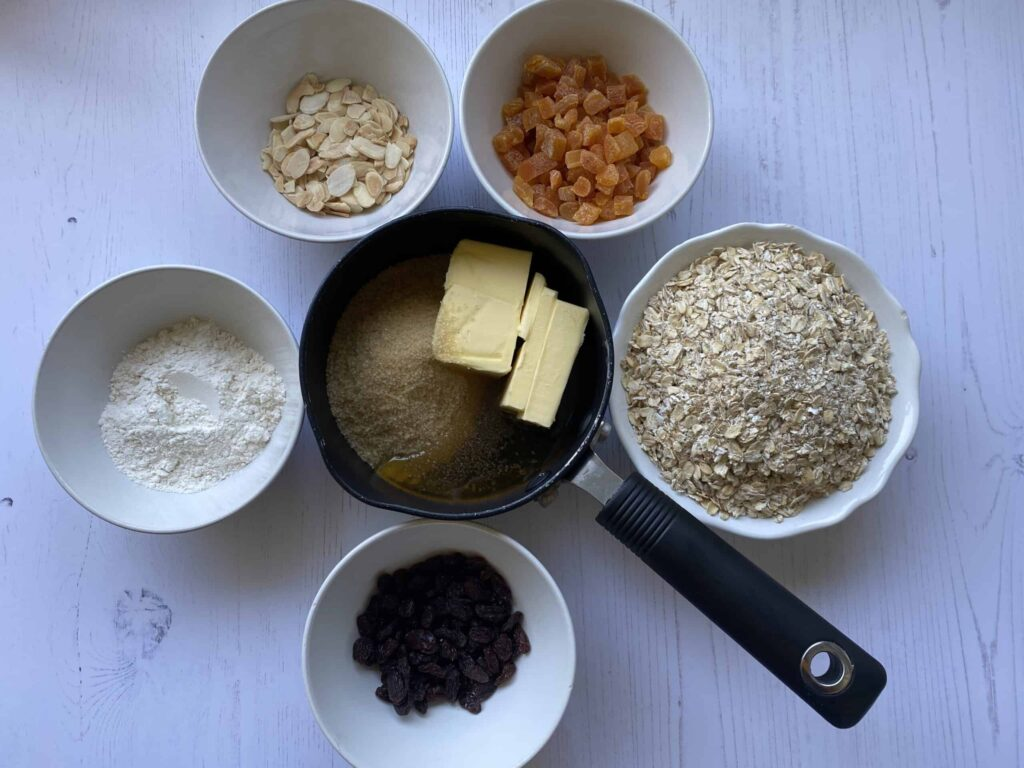 Ingredients for Apricot Flapjacks