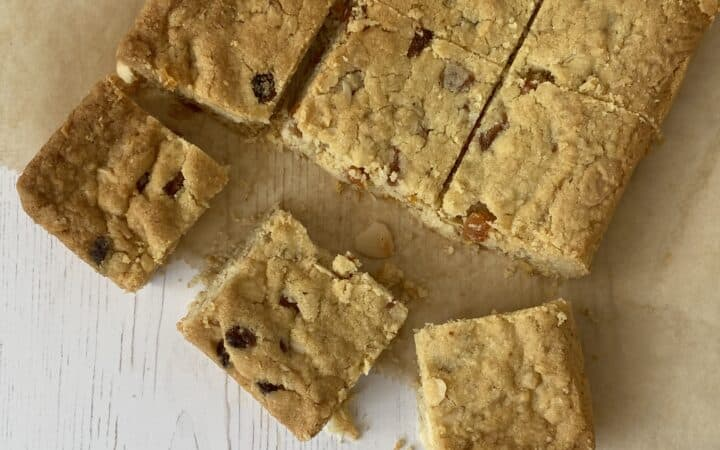 Slices of cookie bars