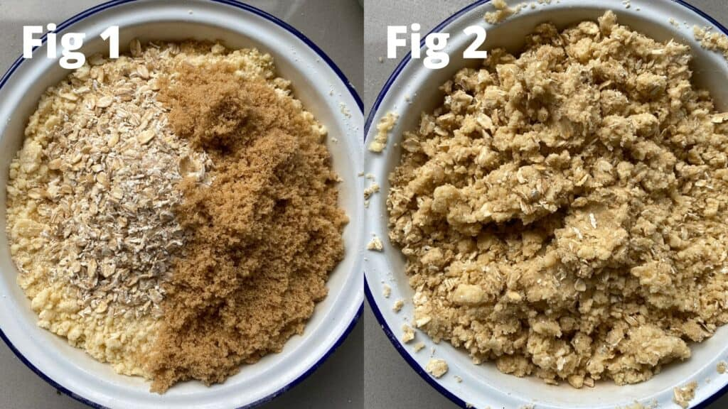 Step by Step Instructions to make a crumble topping