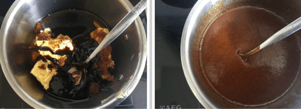 Parkin Mixture in mixing bowls