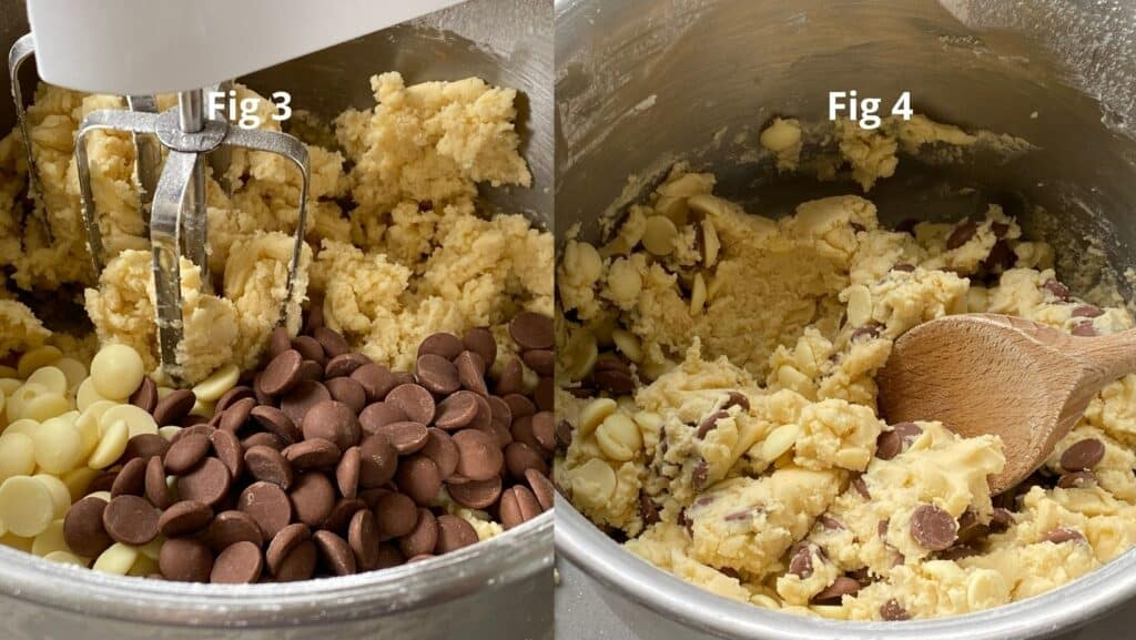 Adding choc chips to shortbread dough