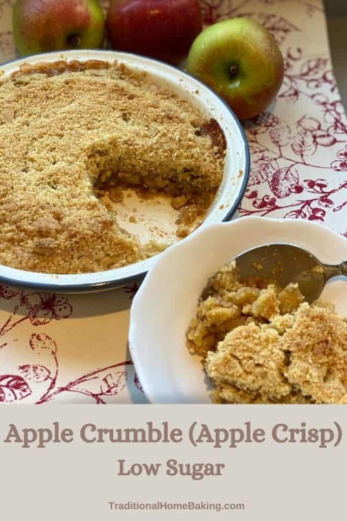 Pinterest image of Apple Crumble
