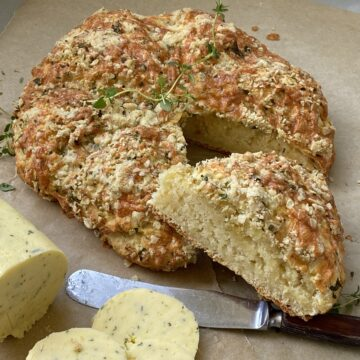 Cheese and Herb Scones with butter on the side.