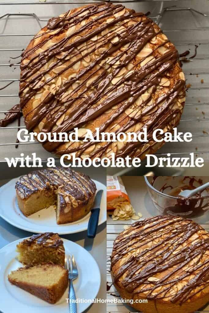 Collage of ground almond Cake
