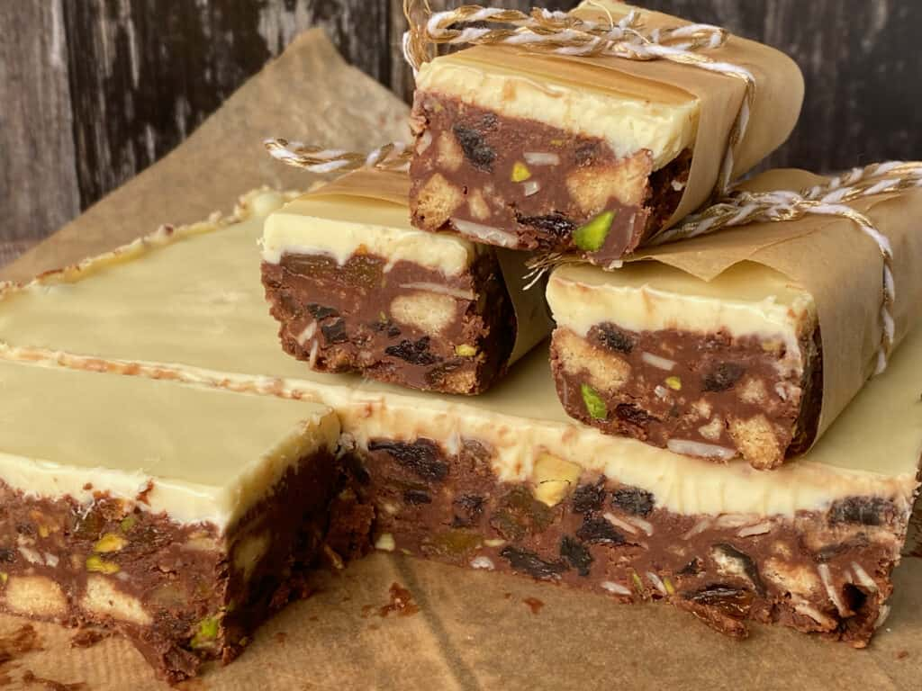 Slices of Homemade Fruit and Nut Bars