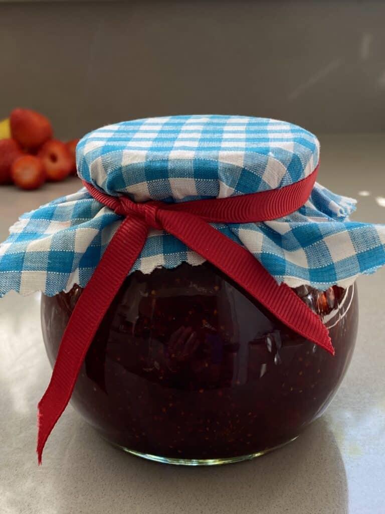 Jar of Strawberry Jam