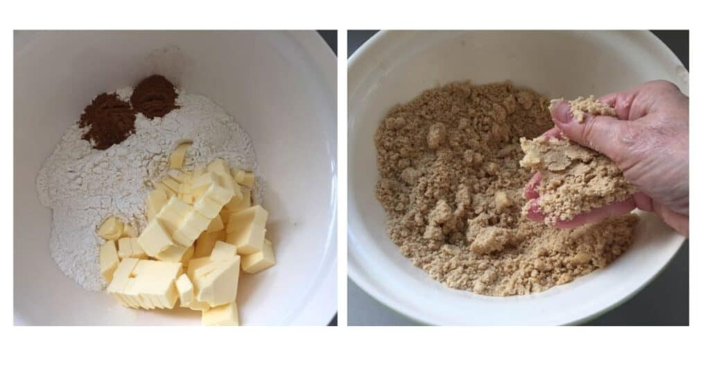 Rich Fruit Cake Ingredients in a bowl