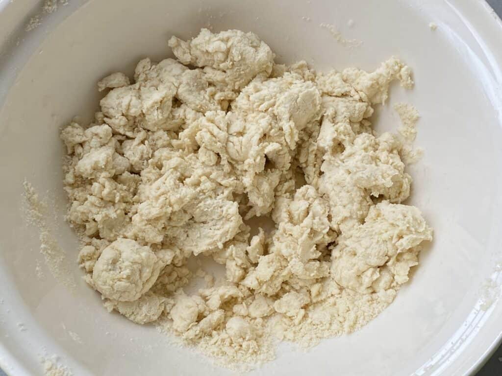 Sweet Scone Dough in a white bowl