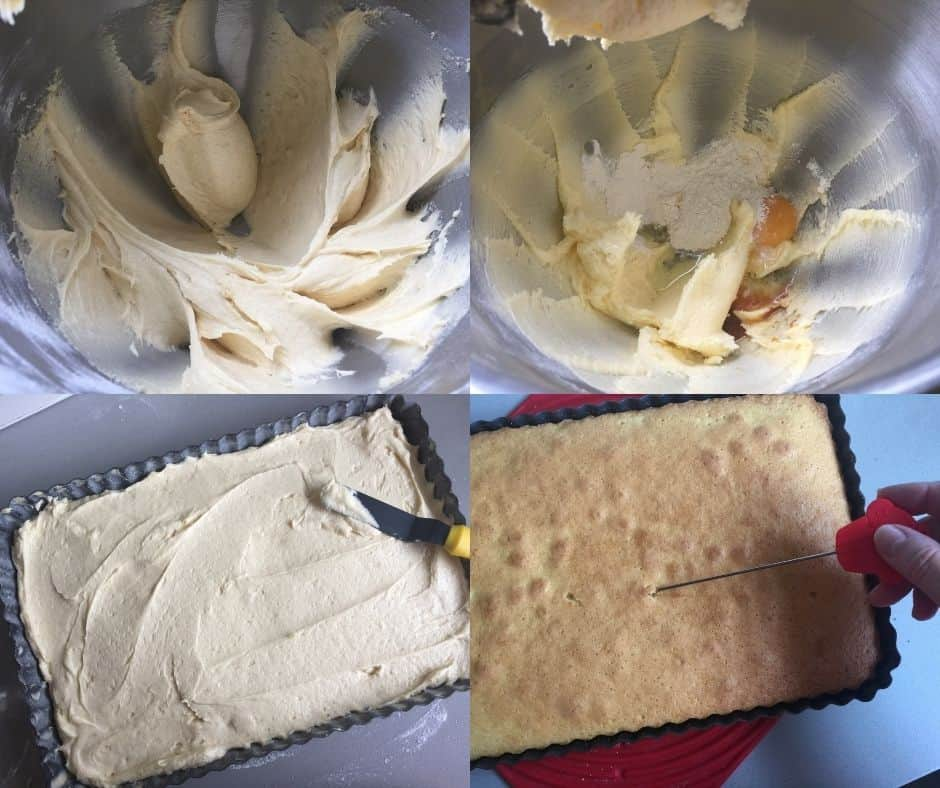 Step by Step instructions to make a vanilla sheet cake
